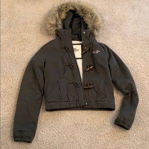 Hollister Fur Hooded Jacket Small